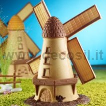 Windmill-shaped silicone mold