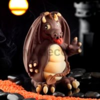 Small Dragon Chocolate Easter Egg Mold