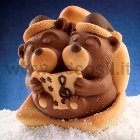 Chocolate Bears Sphere mold