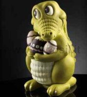 Chocolate Crocodile Big Egg Mold