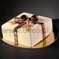 Holly Bow Square Ice Cream Cake mold