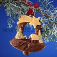 Christmas Hanging Ornament Bell Mold
