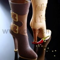 silicone mold High Boots with buckles