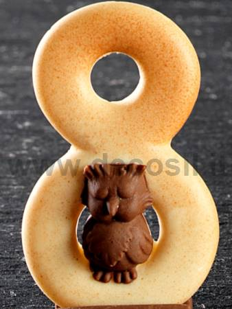 Number 8 Owl mold