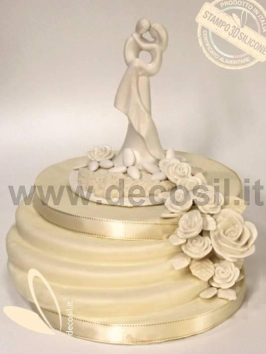Groom Holding Bride cake topper, Stylized Married couple, Wedding ...