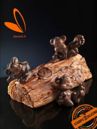 Lying monkey Chocolate Mold
