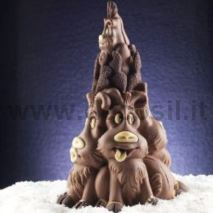 Reindeers Family Chocolate Christmas Tree LINEAGUSCIO Mold