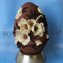 Peach Flowers Chocolate Easter Egg LINEAGUSCIO Mold