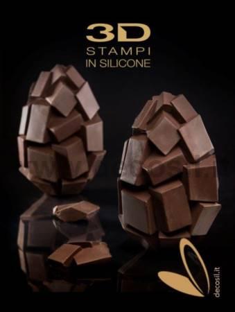 Cubes Chocolate Easter Egg LINEAGUSCIO Mold