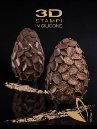 Flakes Chocolate Easter Egg LINEAGUSCIO Mold