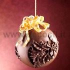 Holly Chocolate Christmas Ball LINEAGUSCIO Mold