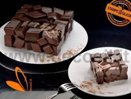 Cake Cubes single portion mold