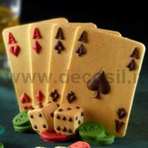 3D Aces Poker mold