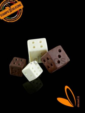 Big Dice game silicone mold