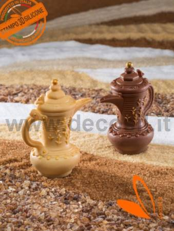 Arabic Coffee Pot with Flower Decorations mold