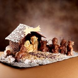 Chocolate Christmas Nativity Scene Molds