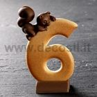 Number 6 Squirrel mold