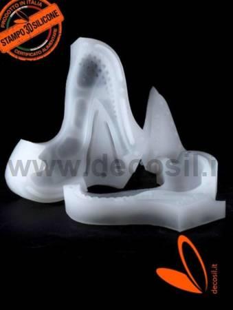 Heel Shoe with Studs chocolate mold