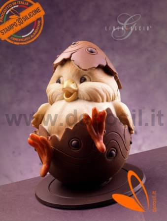 Chick Chocolate Easter Egg LINEAGUSCIO Mold