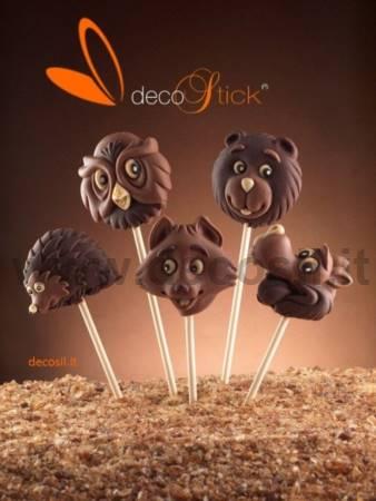 decoStick Wood Chocolate Lollies Mold