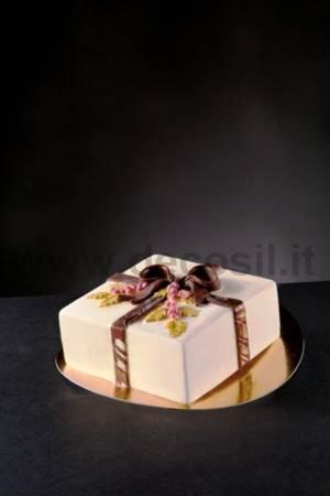 Holly Bow Square Ice Cream Cake mold