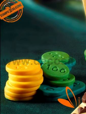 Poker Chips set shaped silicone mold