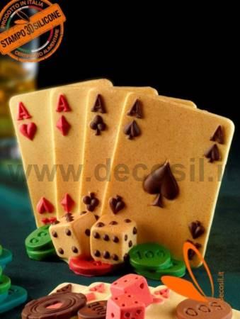 3D Aces Poker mold