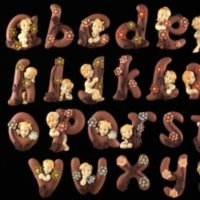 Video Tutorial Step by Step How to make chocolate Flowery Alphabet