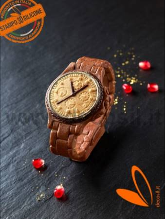 Man Wrist Watch 3D silicone choclate Mold
