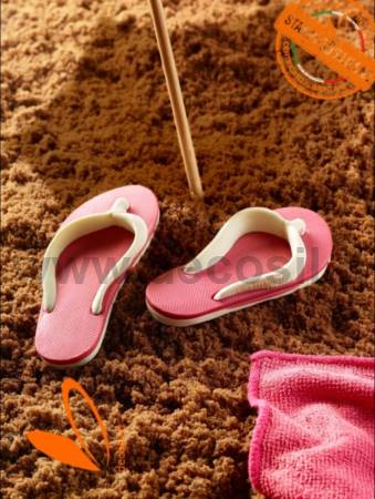 flip flop-shaped chocolate molds