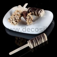 Stick of White Chocolate and Hazelnut Mousse